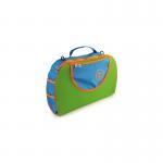 Tote taske blå/grøn