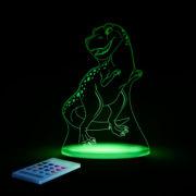 Aloka SleepyLight natlampe med fjernbetjening - T-Rex