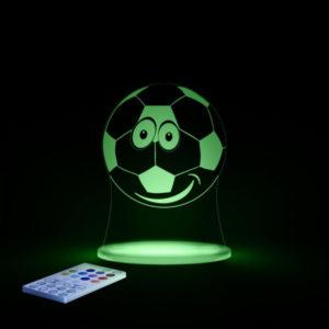 Aloka SleepyLight natlampe med fjernbetjening - fodbold Grønt lys