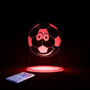Aloka SleepyLight natlampe med fjernbetjening - fodbold Rødt lyd