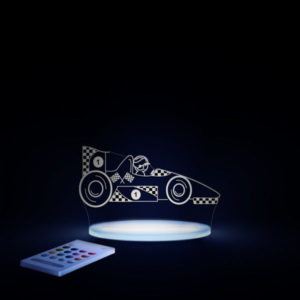 Aloka SleepyLight natlampe med fjernbetjening - racerbil