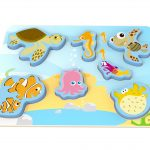 TY077 Wooden puzzle Fisk