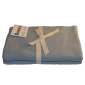 Bomulds tæppe Støvet grå