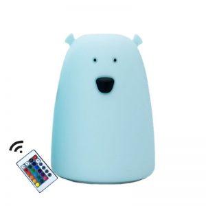 Lampe store bjørn lysblå
