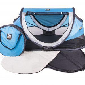 Deryan rejseseng blå og taske